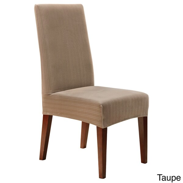 sure fit stretch pinstripe dining room chair slipcover 17409933