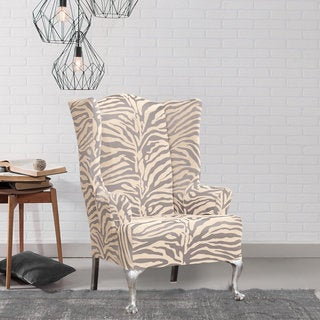Sure Fit Stretch Zebra Wing Chair Slipcover