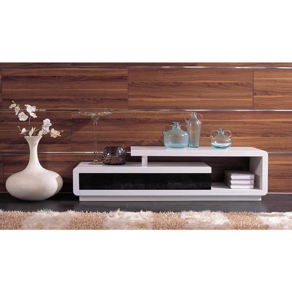Modrest D3033 - Modern White and Black TV Unit