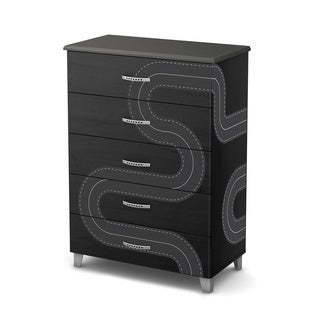 South Shore Luka 5-Drawer Chest with Race Track Ottograff Decals
