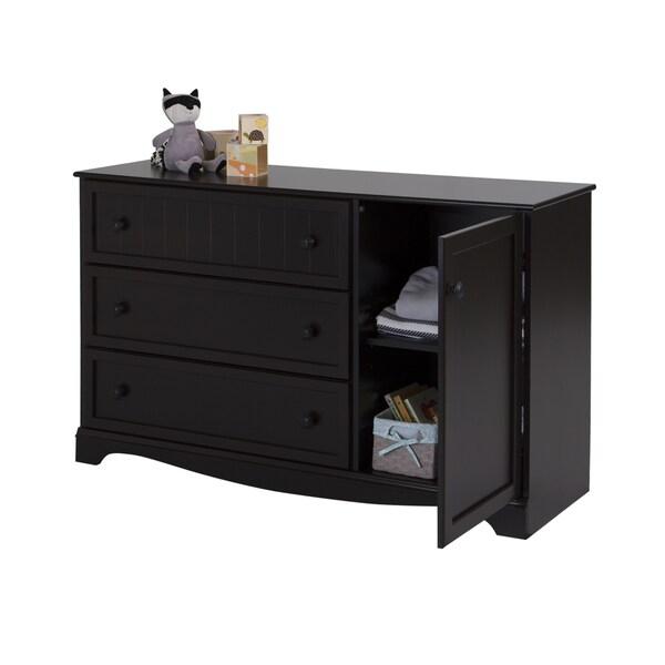 south shore savannah 3 drawer dresser with door 17409990 shopping big. Black Bedroom Furniture Sets. Home Design Ideas
