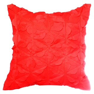 Teen Vogue Painted Poppy Pink Ruffled Decorative Pillow