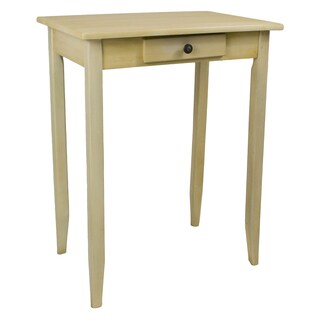 Ashbury Shabby Chic Antique Cream Wood Veneer Square One-drawer Side Table