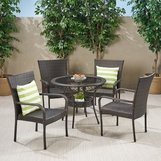 Christopher Knight Home Littleton Outdoor Wicker 5-piece Dining Set
