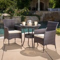 Christopher Knight Home Parker Outdoor 3-piece Wicker Bistro Set with Cushions