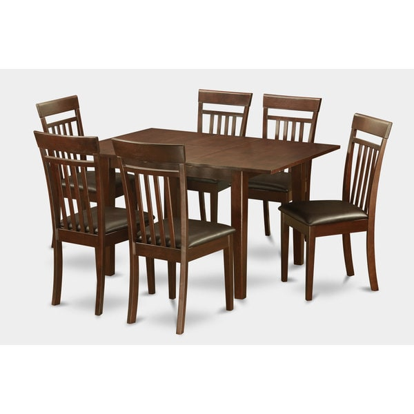 mahogany table and 6 dining table chairs 7 piece dining set