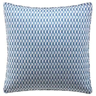 City Scene Optical Geo Peacock Reversible Decorative Pillow