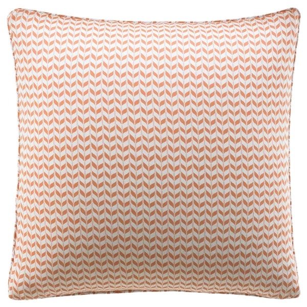 City Scene Leaves Apricot Reversible Decorative Pillow