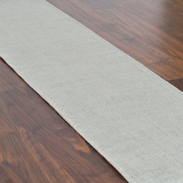 "Burlap Ash Grey Hemmed Runner (12.5"" x 72"")"