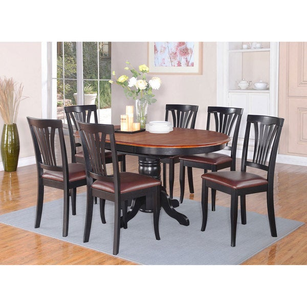 5-piece Dining Table Set For 4-oval Dinette Table With
