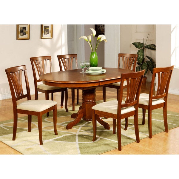 5 Piece Oval Dinette Table With Leaf And 4 Dining Chairs 17410197 Oversto