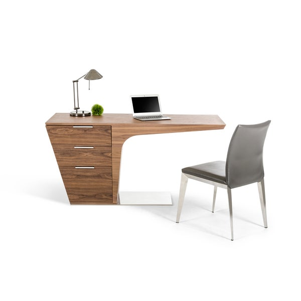 Modrest Bismarck Contemporary Walnut Desk