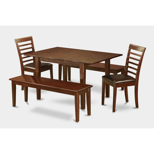 piece small dinette table and 2 dining chairs and 2 benches