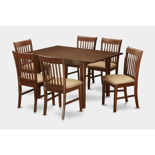 7 piece small dining table and 6 kitchen chairs 17410253