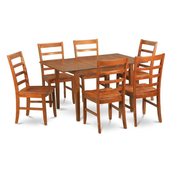 7-piece Dinette Table and 6 Chairs For Dining Room