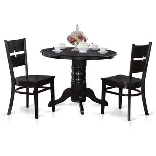 3-piece Round Table and 2 Dining Chairs