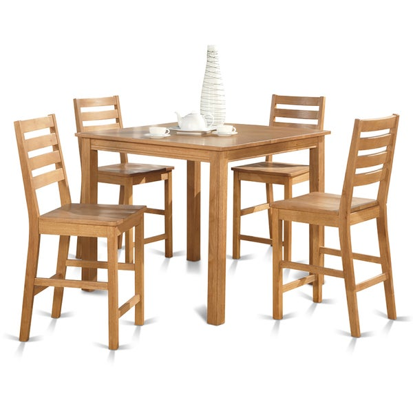 5 Piece Gathering Counter Height Square Table And 4 Stools