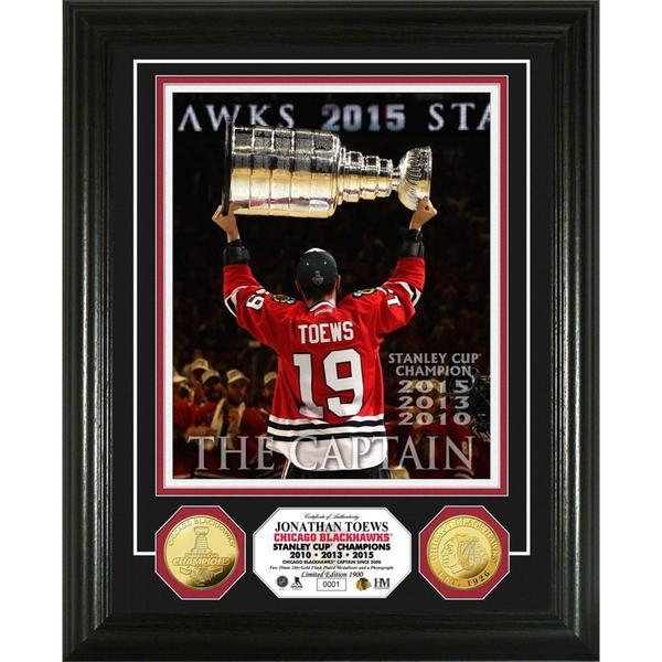 Jonathan Toews 'The Captain' 3-Time Stanley Cup Champion Gold Coin Photo Mint 15688486