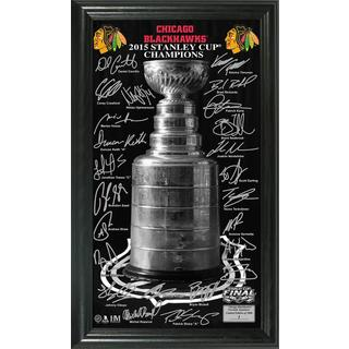 Chicago Blackhawks 2015 Stanley Cup Champions 'Trophy' Signature Photo
