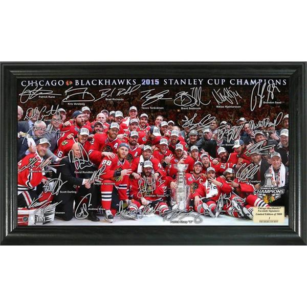 Chicago Blackhawks 2015 Stanley Cup Champions Signature Rink 15688497