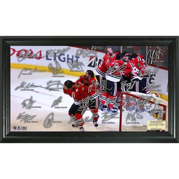 Chicago Blackhawks 2015 Stanley Cup Champions 'Celebration' Signature Rink 15688498