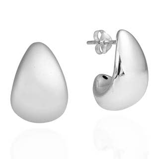 Modern Crescent Moon .925 Sterling Silver Earrings (Thailand)