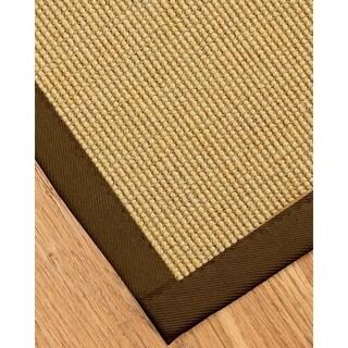 Hand-crafted Sage/Khaki Monterrey Sisal Rug (2' x 3')