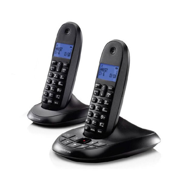 Motorola Digital Cordless Home Phone with Answering Machine and 2 Handsets