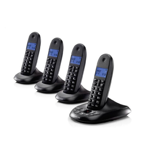 Motorola Digital Cordless Home Phone with Answering Machine and 4 Handsets