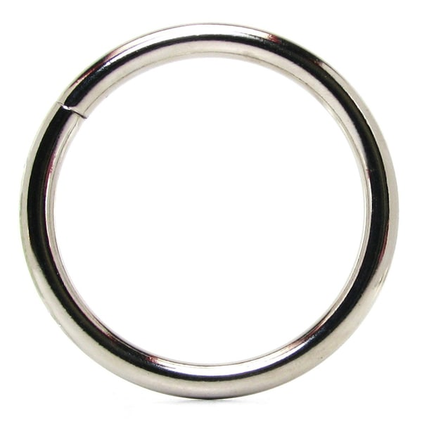 Steel Penis Ring 1.8-inch in Silver (Pack of 3)