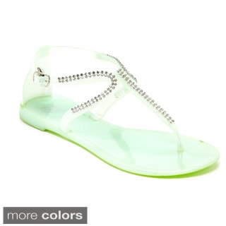 Women's Studded T Strap Jelly Sandal