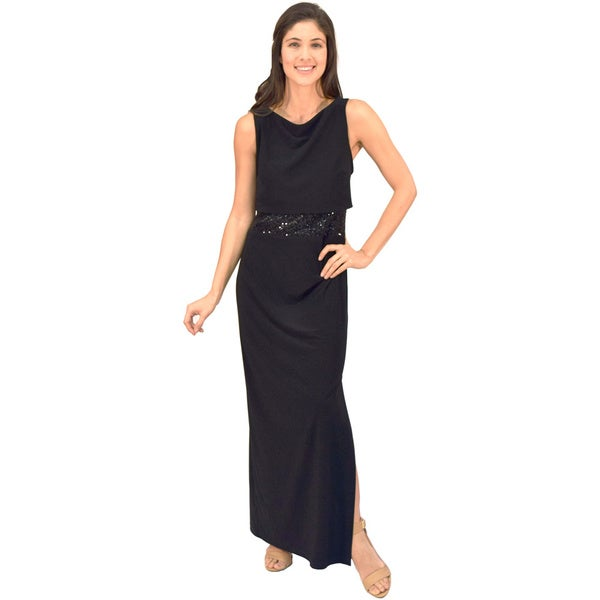 R&M Richards Popover Black Evening Gown