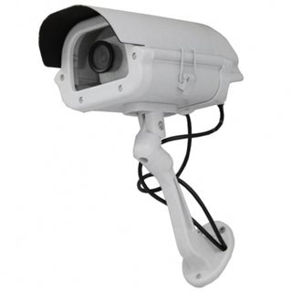 9-inch Heavy-duty Dummy Security Camera in Outdoor Housing with Light