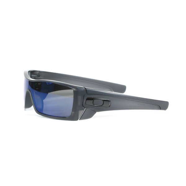 Oakley Matte Black Batwolf Sunglasses with Ice Iridium Polarized Lenses