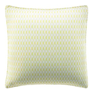 City Scene Optical Geo Lemon Reversible Decorative Pillow