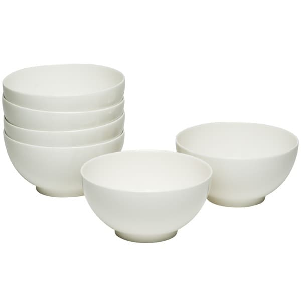 Every Time White Tall Cereal Bowl (Set of 6)