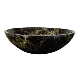 Yosemite Home Decor Classic Round Stone Vessel Sink