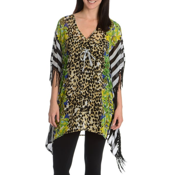 Club Z Collection Women's Mixed Print Kimono Tunic