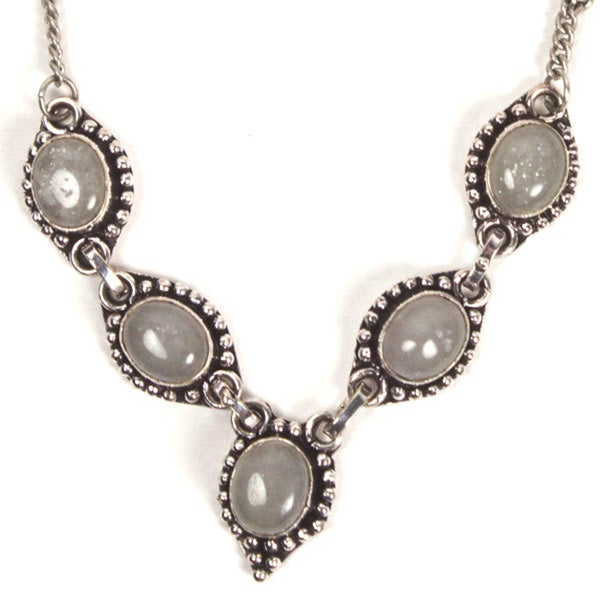 My Fair Lady Silvertone Necklace (India)