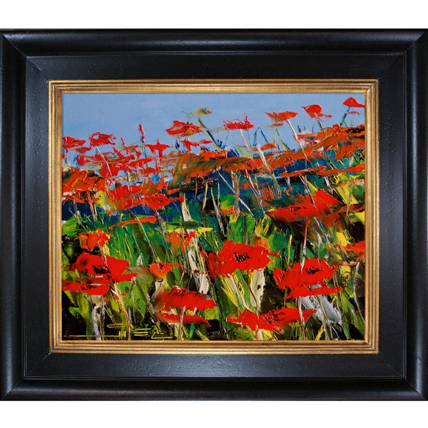 Atelier De Jiel 'Poppies' Framed Fine Art Print