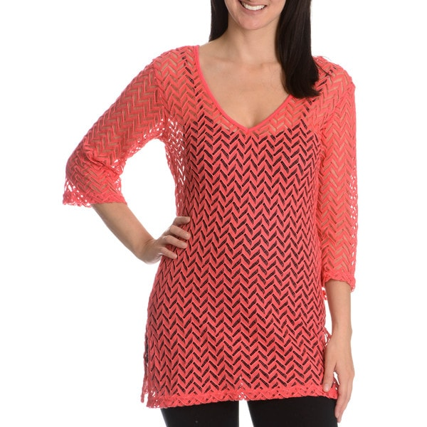 Blue Island Women's Chevron Crochet Tunic