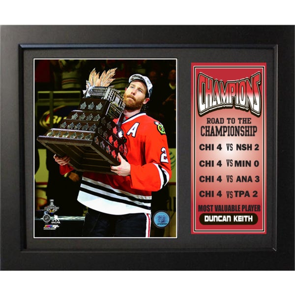 2015 Stanley Cup Champions Chicago Blackhawks MVP 11x14 Deluxe Frame