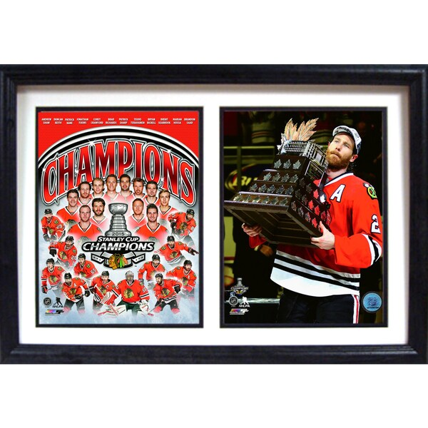 2015 Stanley Cup Champions Chicago Blackhawks 12x18 Double Frame