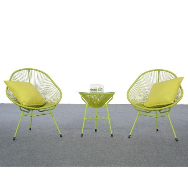 Decorative Modern Green Indoor/Outdoor Bistro Dining Set