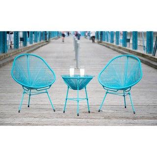 Decorative Modern Blue Indoor/Outdoor Bistro Dining Set