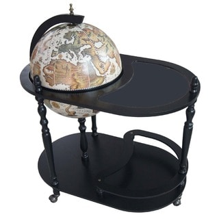 Arezzo 17.5-inch Diameter Globe Bar Trolley - White