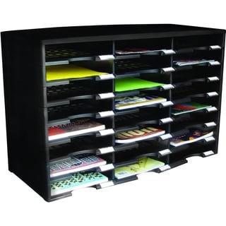 Storex 24-Compartment Literature Organizer and Document Sorter
