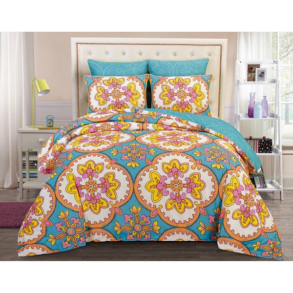 Couture Home Collection Vintage Lilliana Floral 5-piece Comforter Bed Set