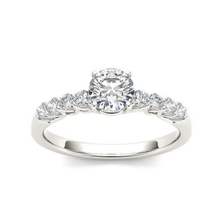 De Couer 14k White Gold 1ct TDW Diamond Classic Engagement Ring (H-I, I2)