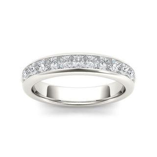 De Couer 14k White Gold 1ct TDW Diamond Women's Wedding Band (H-I, I2)